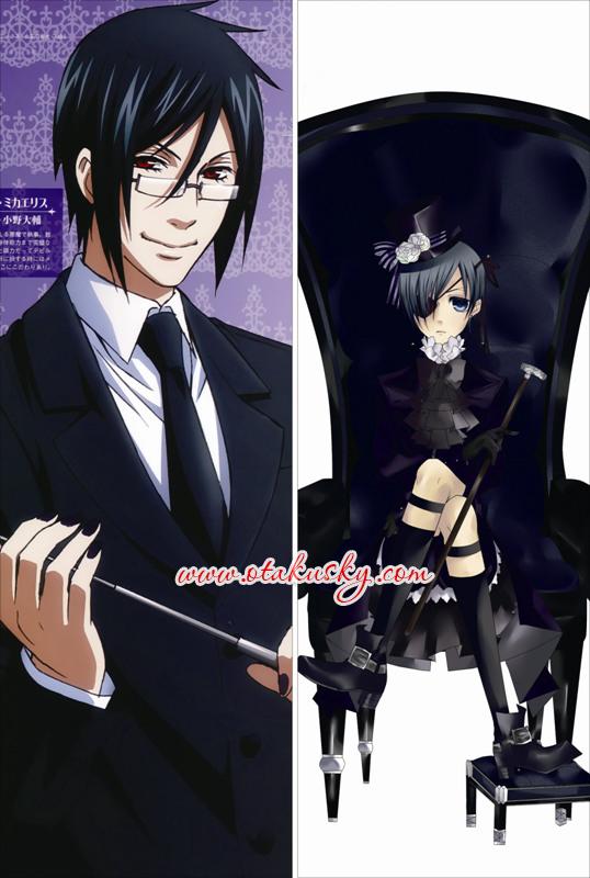 Black Butler Dakimakura Ciel Sebastian Body Pillow Case